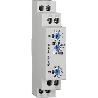ENTES MCB-20 TDR multifonction 1 PC (s) ATT. FX. PLAGE horaire  0,05 s - 100 h 1 inverseur