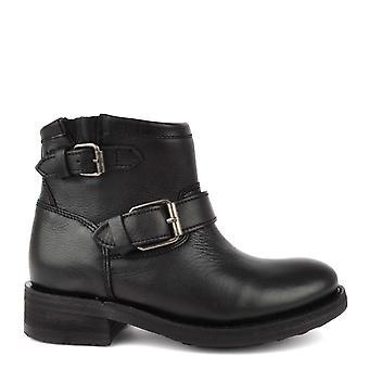 Ash calzado cuero negro truco Biker Boot