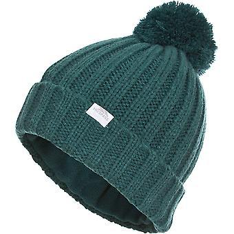 Trespass Womens/Ladies Alisha Knitted Pom Pom Fleece Beanie Hat
