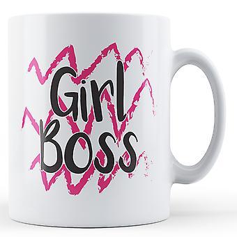Flicka Boss - tryckt mugg