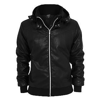 Urban classics men's art leather jacket imitation jacket
