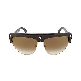 Tom Ford FT0318 52G Liane Shield Sunglasses - Tortoise Brown Frame | Brown Gradient Lens
