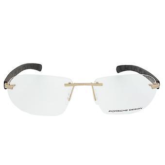 Porsche Design P8202 C Rectangular | Gold/Matte Brown| Eyeglass Frames