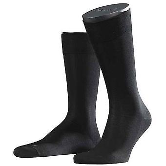 Sensible a Falke Málaga Midcalf calcetines - negro