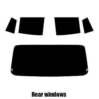 Pre cut window tint - Daihatsu Cuore 5-door Hatchback - 2006 to 2016 - Rear windows