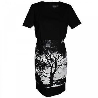 Frank Lyman Women's Short Sleeve Tree Print Dress