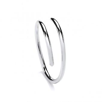Cavendish franska Sterling Silver slät Cleo Bangle