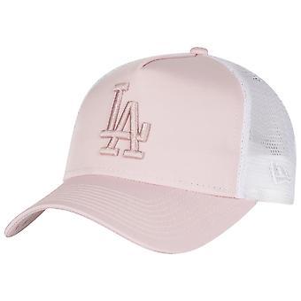 New Era Trucker Damen Cap - SATIN Los Angeles Dodgers pink