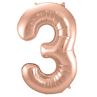 Number 3 inflatable balloon rose number balloon balloon number approximately 86 cm