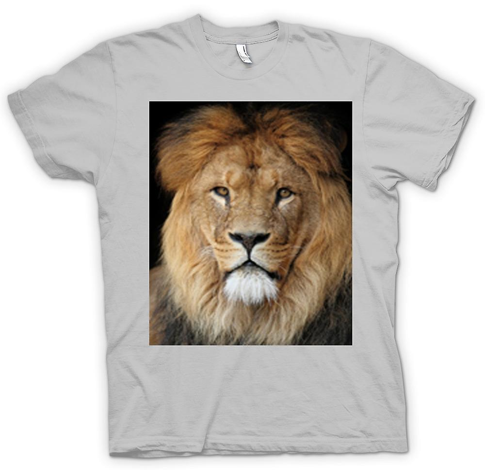 Mens T-shirt - Lion Colour Portrait