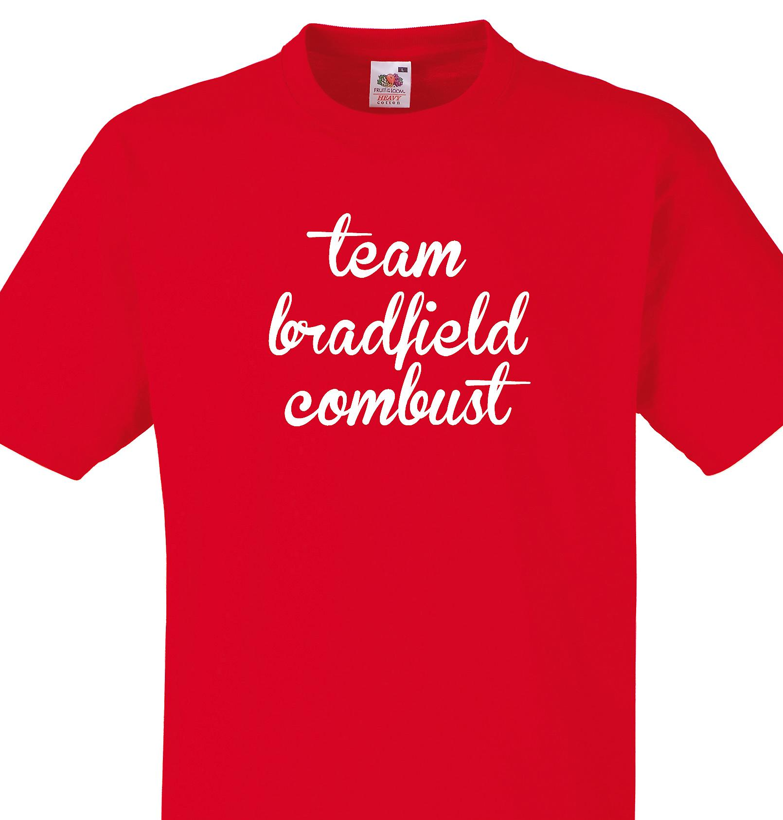 Team Bradfield combust Red T shirt