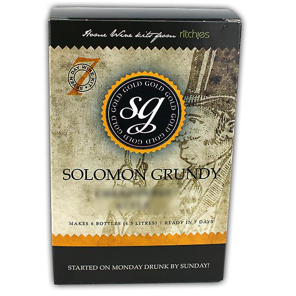 Solomon Grundy Gold - Zinfandel Rose 6 Bottles
