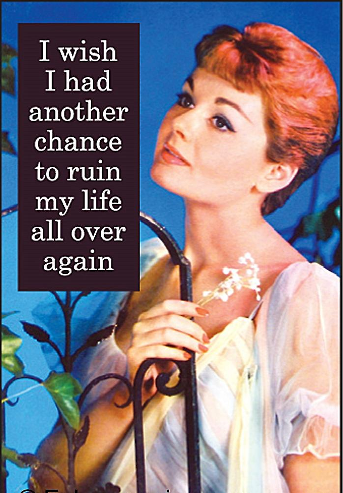 I Wish I Had Another Chance To... funny fridge magnet   (ep)