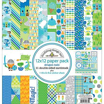 Doodlebug Double-Sided Paper Pack 12