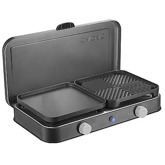 Cadac 2 Cook Deluxe Grill - includes Piezo, Ribbed and Flat Plate + Bag - Black