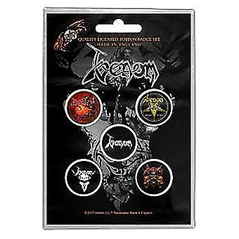 Venom Black Metal 5 Pin Badges in Pack (rz)