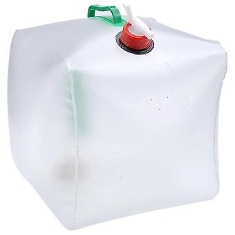 15L Collapsible Water Carrier Foldable Plastic Camping Festival Container Tap