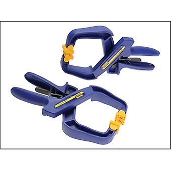 IRWIN Quick-Grip 4in Handy Clamps Twin Pack