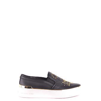 Michael Kors Black Leather Slip On Sneakers