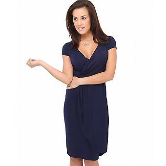 KRISP Cap Sleeve Wrap Jersey Dress
