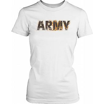 Army - Armed Forces Covered in Mud Ladies T Shirt
