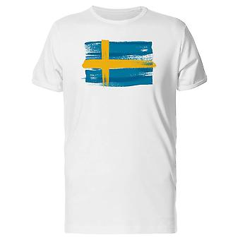 Sweden Flag Paintbrush Tee Men's -Image by Shutterstock