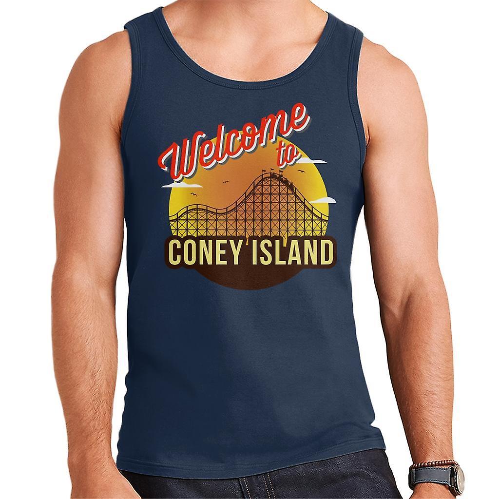 Welcome To Coney Island Retro Men's Vest