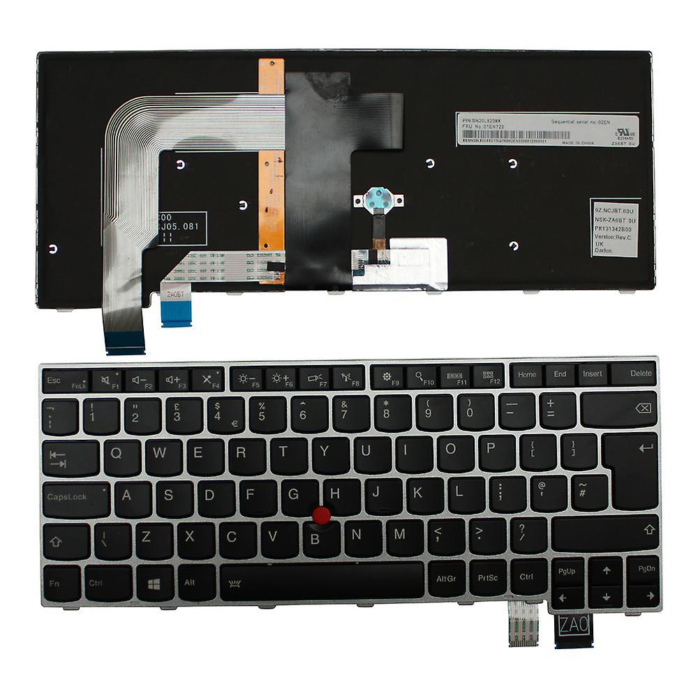 Lenovo ThinkPad T460S argent Frame Windows 8 rétro-éclairé noir UK Layout remplaceHommest clavier d'ordinateur portable