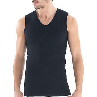 BlackSpade M9208 Men's Body Control Black Tank Vest Top