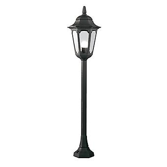 Traditional Outdoor Pillar Lantern with Clear Glass Panel IP44