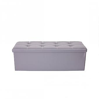 Rebecca Furniture Pouf foldable Puff Grey padded container 38 X 110 X 38
