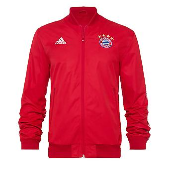 2019-2020 Bayern Munich Adidas Anthem Jacket (Red)