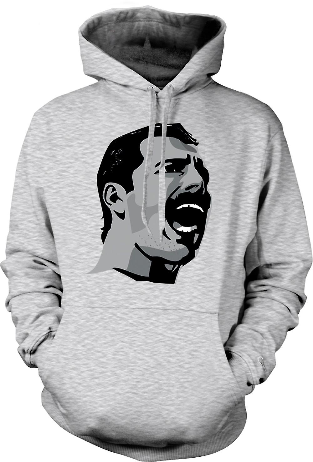 Mens Hoodie - Freddie Mercury Pop-Art Portrait