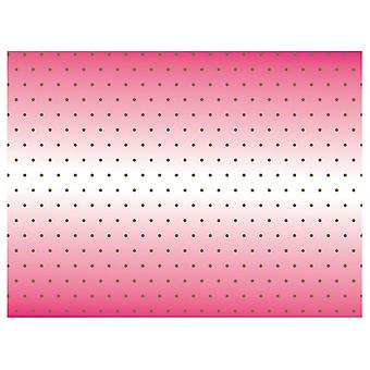 Picnic Table Cloth Cover Outdoor Party Decorations - Pink With Gold Spots