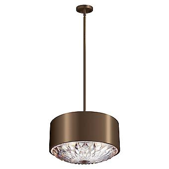Elstead - 4 Light Pendant - Dark Brass Finish - FE/BOTANIC/4P