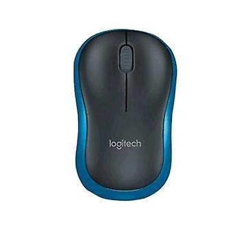 Logitech m185 optical mouse wireless 2.4 ghz blue