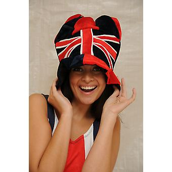 J101 union jack jester hats with bells