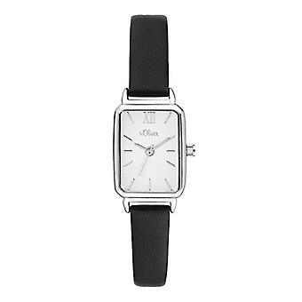 s.Oliver Analog Clock Quartz Woman with Leather Strap SO-3819-LQ