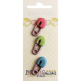 Baby knuffels knoppen-luier Pins BH-125