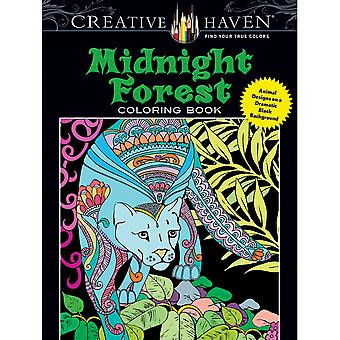 Dover Publications-Creative Haven minuit forêt DOV-80500