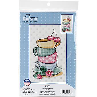 Tea Time Counted Cross Stitch Kit-5