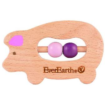 EverEarth rattle Pig
