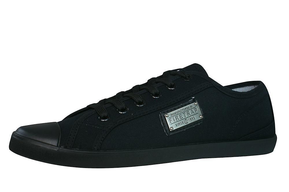 Firetrap Charlie Plate Mens - Canvas Trainers / Shoes - Mens Black 2172c1