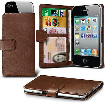 ( Brown +Earphones) Case For Samsung Galaxy J5 2016 Faux Leather Holdit Adjustable Wallet Samsung Galaxy J5 2016 Cover By i-Tronixs