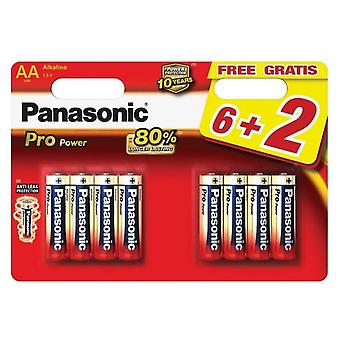 Panasonic 1.5v Alkaline batteries lr6pp 8bp 6 + 2-bl