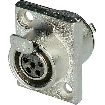 XLR connector Socket, vertical vertical Number of pins: 5 Silver Hicon HI-XMEF5 1 pc(s)