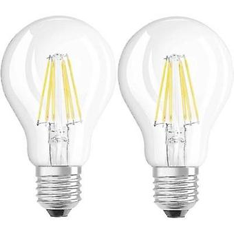 LED (monochrome) OSRAM 230 V E27 6 W = 60 W Warm white EEC: A++ Arbitrary (Ø x L) 60 mm x 105 mm Filament 2 pc(s)