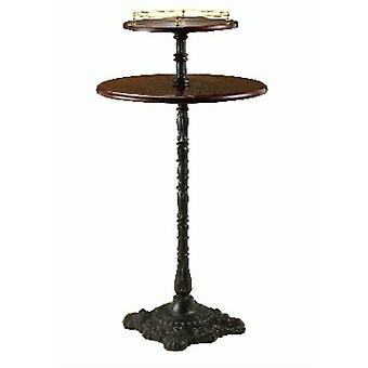 Lira Cast Iron And Wood Poseur Table - Double Round