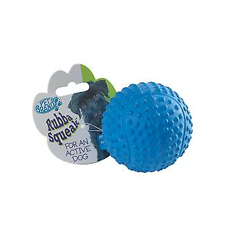 Sfera di Tennis di rubba Squeak assortito colori 9cm