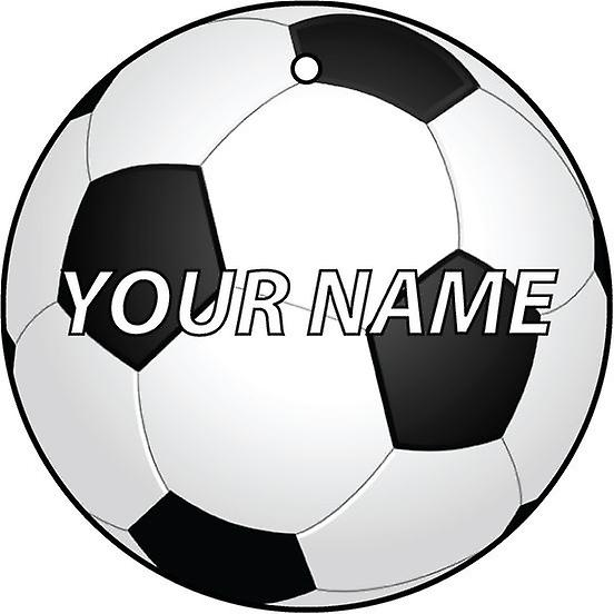 Personalised Name Football/Soccer Car Air Freshener